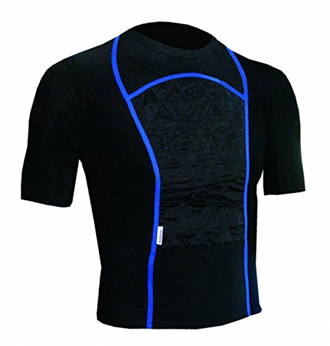 Techniche 6202 HyperKewl™ KewlShirt Evaporative Cooling T-Shirts - Black w/ Blue Piping